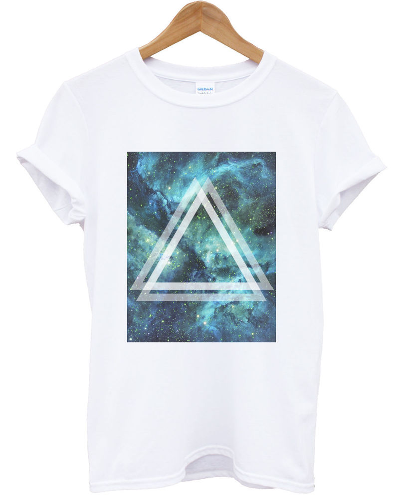 Triangle galaxy t shirt space summer top high dope apparel hipster shop urban