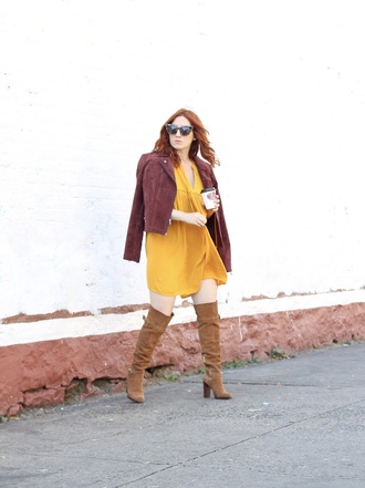tf diaries blogger dress jacket shoes sunglasses