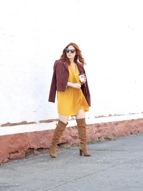 tf diaries blogger dress jacket shoes sunglasses