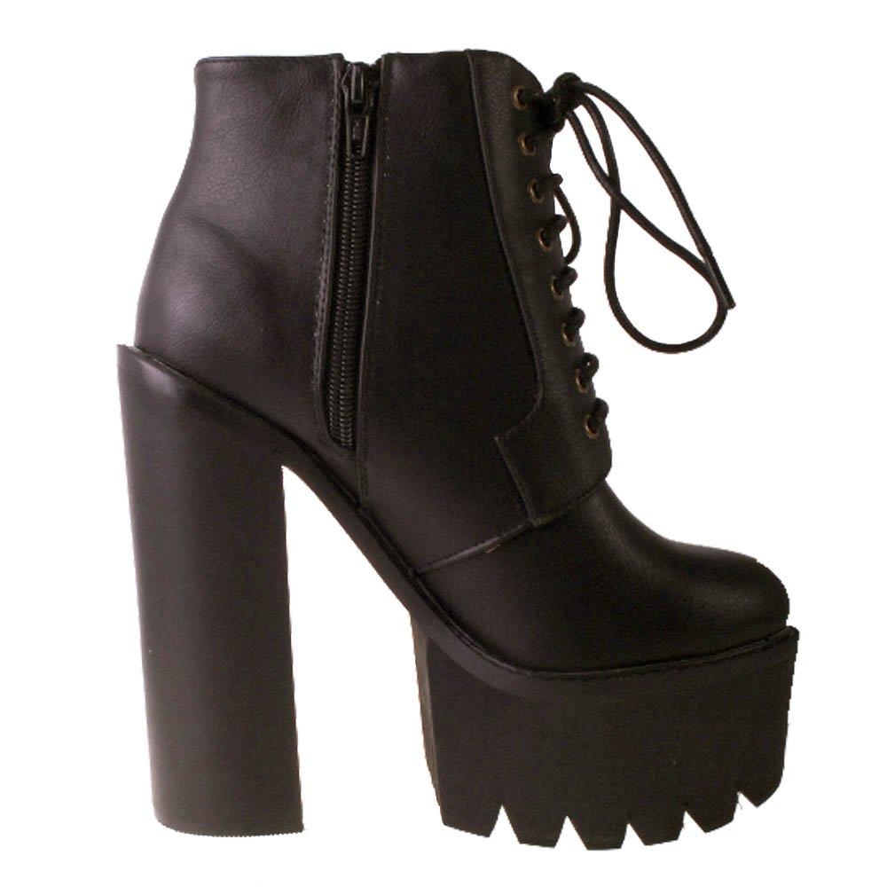 Truffle Platform Boots | Black Platform Boots | Zip Boots