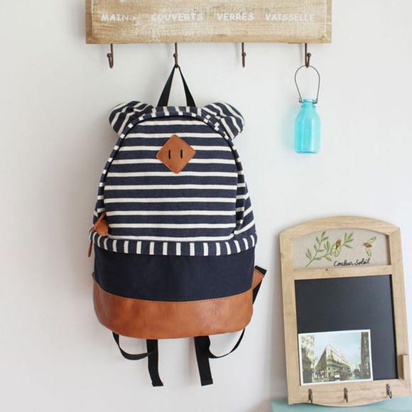 stripes bag backpack