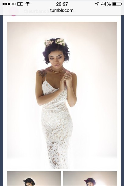 white dress jhene aiko tattoo dress