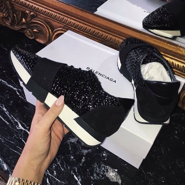 a24eqc l 610x610 shoes sneakers black designer balenciaga glitter fashion+vibe fashion+toast fashion+coolture fashion+week+2016 fashionista fashion+style fashion+addict passions+fashion fashion+pla - Top Celebrity Trainers