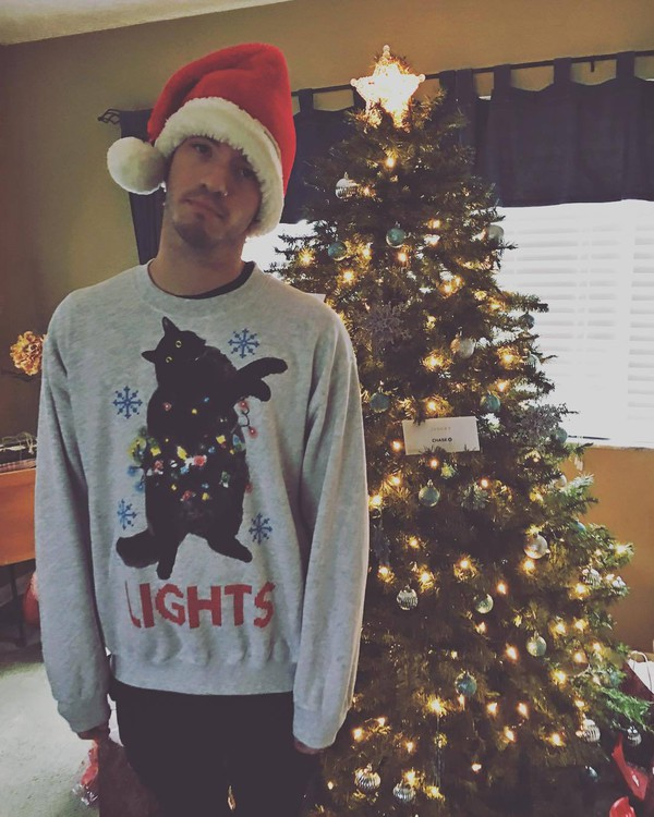 Sweater Josh Dun Twenty One Pilots Christmas Cats