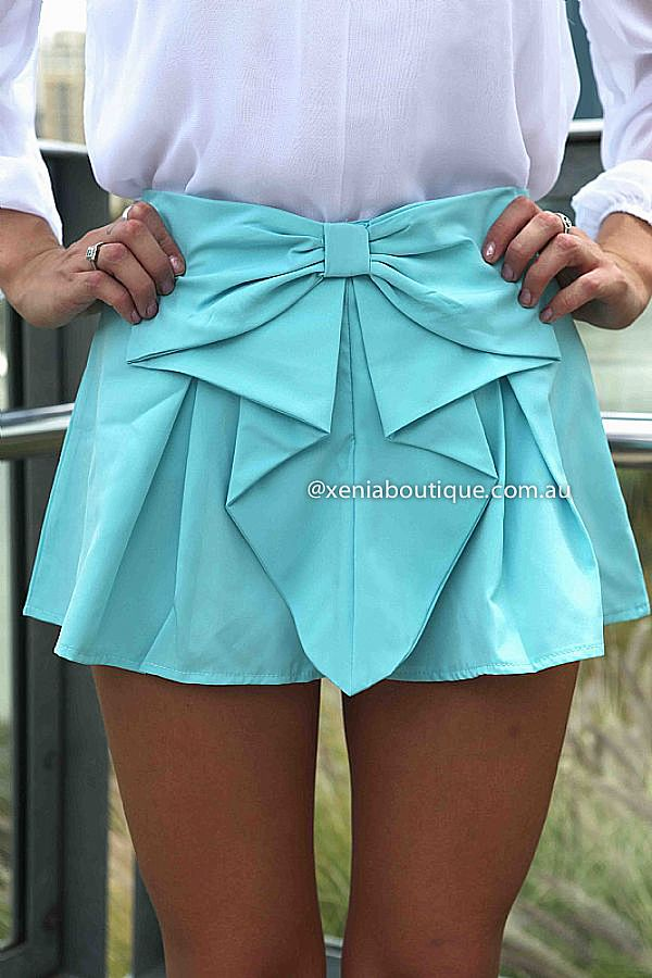 BOW SHORTS , DRESSES, TOPS, BOTTOMS, JACKETS & JUMPERS, ACCESSORIES, SALE, PRE ORDER, NEW ARRIVALS, PLAYSUIT, COLOUR,,SHORTS,Blue Australia, Queensland, Brisbane