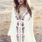 Wholesale $7.5 gauze embroidered high low dress