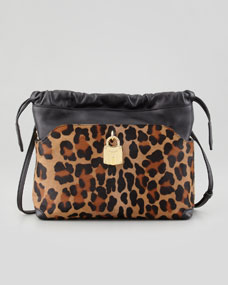 Burberry Little Crush Leopard-Print Drawstring Crossbody Bag - Neiman Marcus