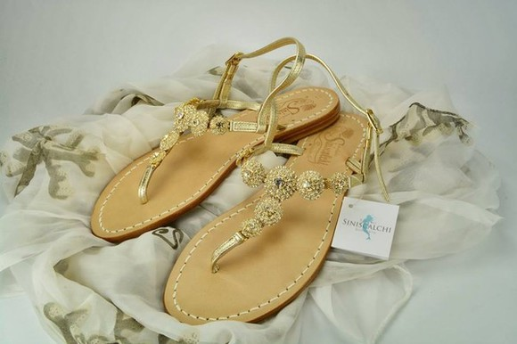 shoes ballerinas gold sandals sweet