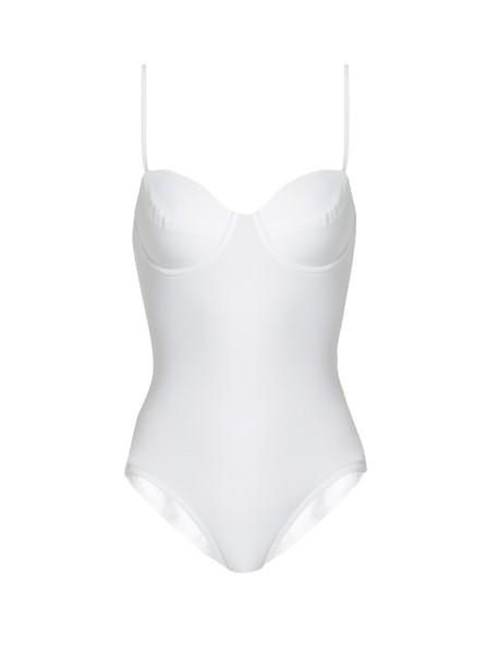 Norma Kamali white swimwear