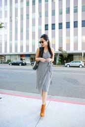 hautepinkpretty,blogger,sunglasses,jewels,dress,shoes,ankle boots,midi dress