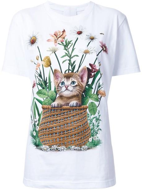 Wall t-shirt shirt t-shirt women white cotton print top