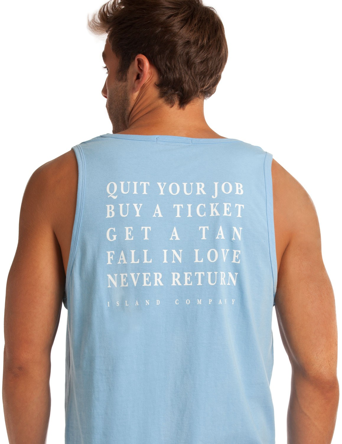 Men's Azul Blue QYJ Tank - Quit Your Job, Buy a Ticket |Island Company