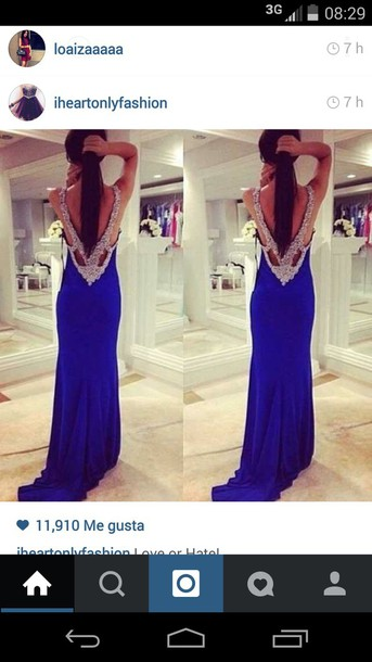 dress blue dress bejeweled open back prom dress prom dress prom dress beaded dress prom dress bejeweled dress backless prom dress