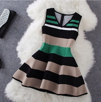 dress stripes formal dress