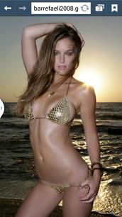 swimwear,gold,sexy,plaid,bikini