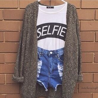 jumpsuit selfie jacket ripped jeans crop tops graphic tee