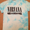 Nirvana nevermind t shirt - blue acid wash/tie dye style - all sizes! | ebay