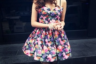 dress floral flowers pretty indie tumblr hipster girly