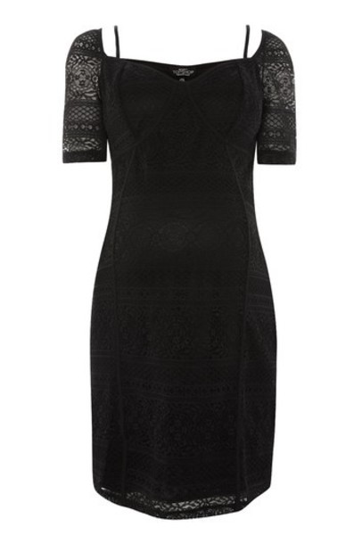 dress shift dress lace black