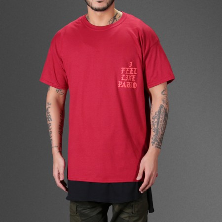 a85977f9 Kanye West I feel Like Pablo Red T-Shirt - WEHUSTLE | MENSWEAR, WOMENSWEAR,  HATS, MIXTAPES & MORE