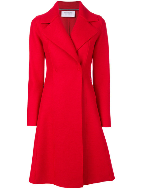 HARRIS WHARF LONDON coat long women wool red