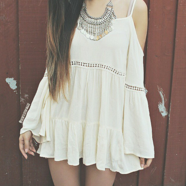 lace dress tumblr dress summer dress white dress boho dress dress white summer