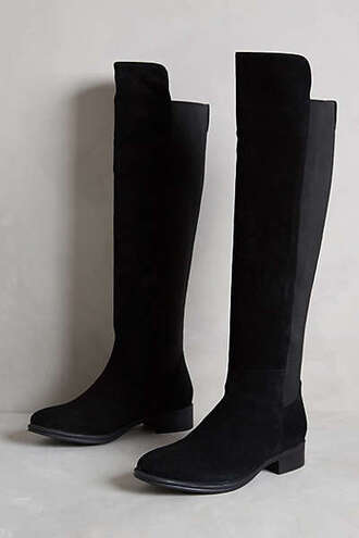 shoes black boots suede boots riding boots anthropologie fall outfits boots