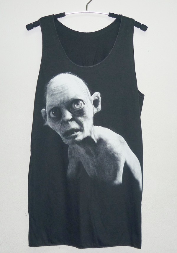 tank top monster shirts gollum shirt women shirts teen clothing cotton tank tops