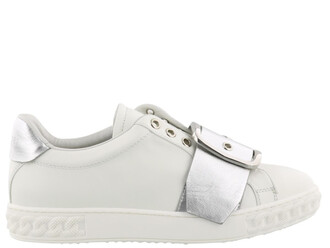 silver white shoes