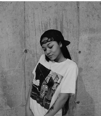 shirt wolftyla 90s style white t-shirt t shirt print hat cartoon