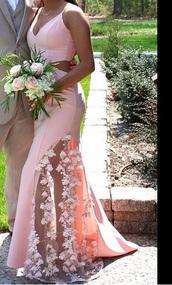 dress,prom,pink,flowers,floral dress,pink dress,need ,prom dress,senior prom,slit dress