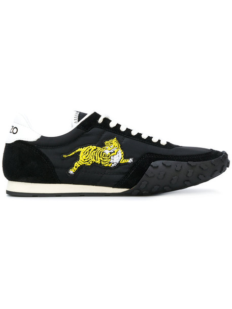 Kenzo women sneakers leather cotton black shoes