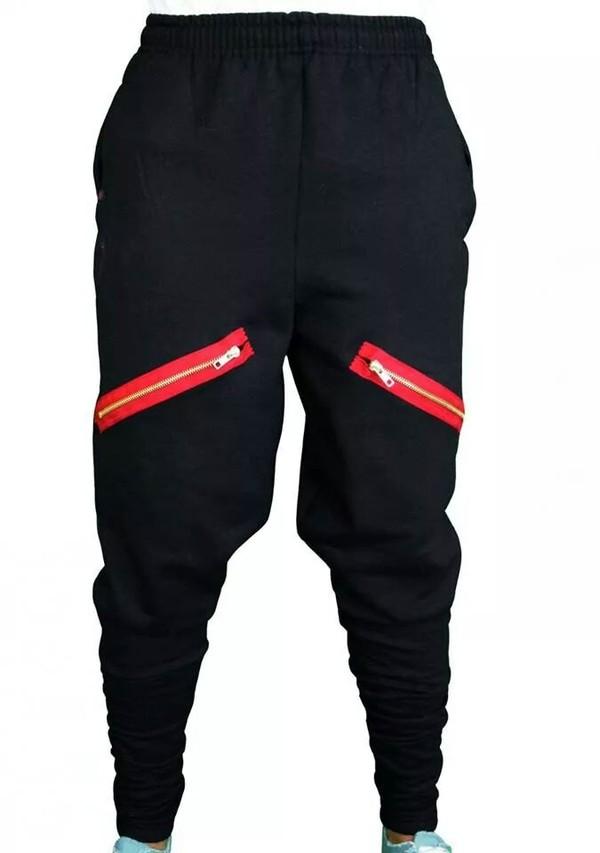 pants black black chachimomma harem