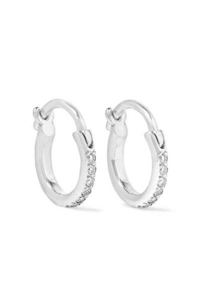 Ileana Makri - 18-karat White Gold Diamond Hoop Earrings