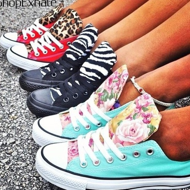 super popular b9d5f a3161 shoes converse leopard print zebra print floral red black turquoise converse  chuck taylor all stars chuck