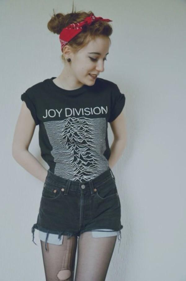 joy division t-shirt black t-shirt
