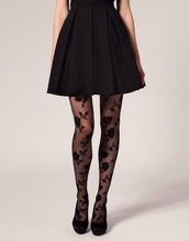 tights,dress,lace,black,floral,vintage,all black everything,flowers,pretty,elegant,black tights