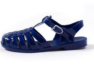 shoes flat sandals closed toe sandals womens shoes jellies blue
