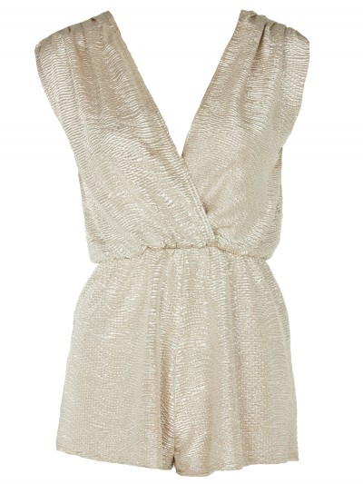 Gold crossover playsuit