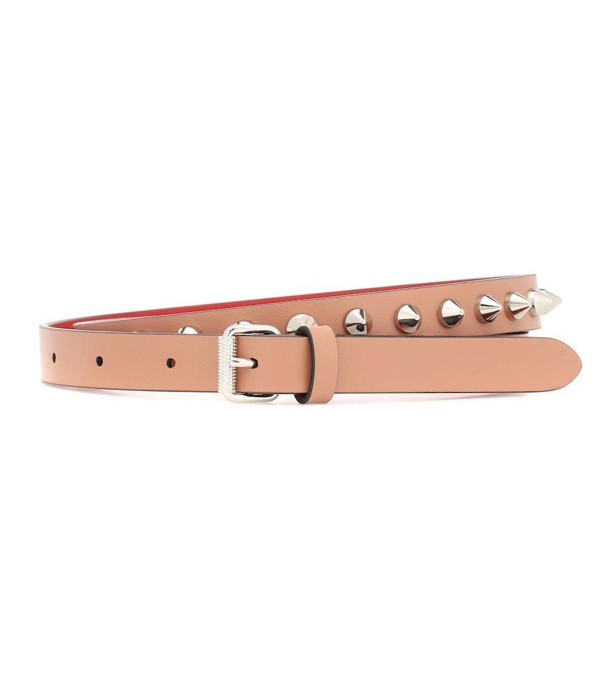 Loubispikes leather belt