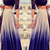 Ombre Blue Mid Waist Pleated Maxi Skirt