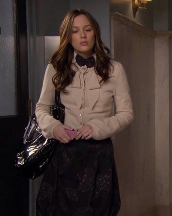 blouse vintage black pink cardigan blair waldorf gossip girl gossip girl blair dress skirt butterfly