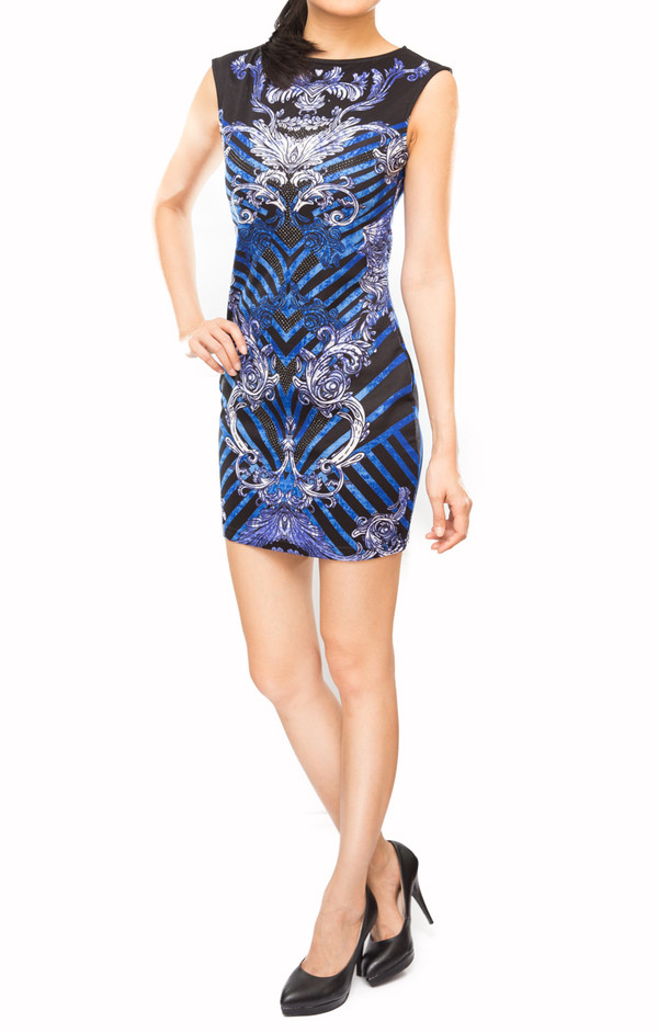 dress printed dress luxe abstract prints jewel ensembles