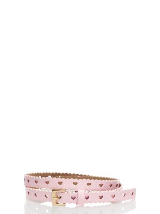 belt kate spade heart pink leather
