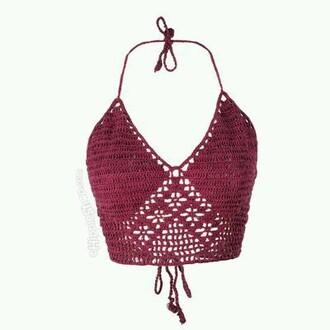 swimwear crochet bikini