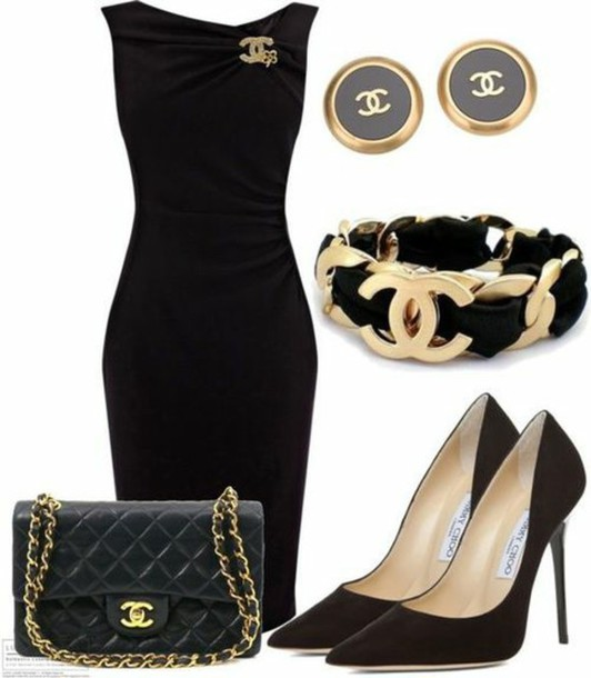 dress style shoes bag jewels