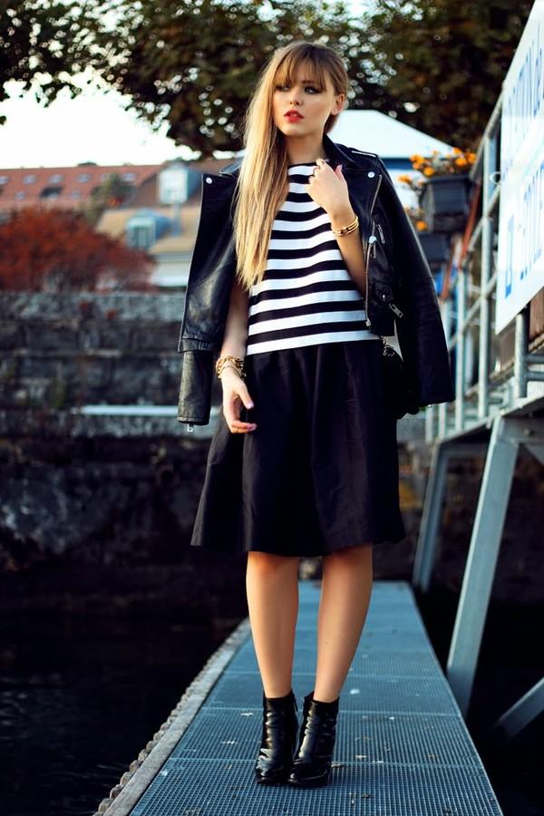 kayture t-shirt skirt shoes jewels bag jacket