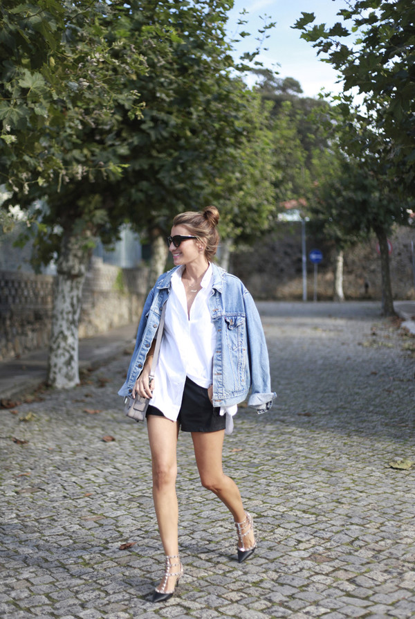 b a r t a b a c blogger jacket bag sunglasses shorts shirt shoes
