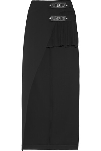 skirt pleated embellished black
