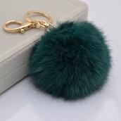 keychain,pom poms,glamour,classy,faux fur,fur keychain,fur,accessories,Accessory